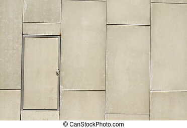 Gray wall with door background - Gray wall with door...