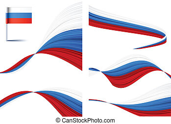 Russian flag - Vector illustration of national russian flags...