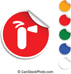 Extinguisher icon. - Extinguisher sheet icon. Vector...