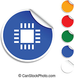 Cpu  icon. -  Cpu sheet icon. Vector illustration.