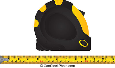 tape measure over white background vector illustration