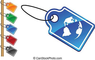 Planet tags - Planet tag set Vector illustration