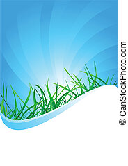 Vector background with grass; clip-art