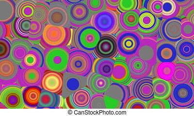 Bright color circles