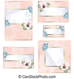 Antique pink wedding banner