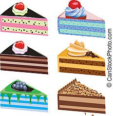 vector cake slices