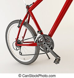 3d red bicycle