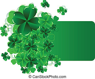 Greeting Cards St Patrick's Day with shamrock vector...