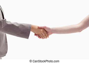 Close-up of a handshake