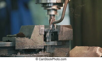 milling Machine - processing operations of metal on the...