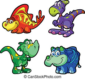 collection of cute baby dinos