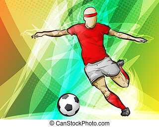 Soccer-futbol/Abstract Sports - Kicking a Soccer Goal