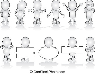 Generic Characters - Series of Generic Human Characters in...