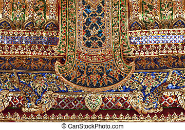 ceramic and crystal - colorful pattern of the wall made from...