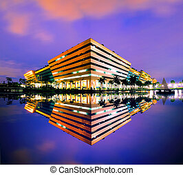 architecture - Modern building is the work of the...