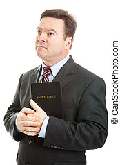 Religious Man - Religious Christian man in a business suit,...