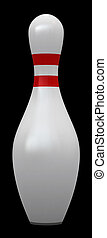 Bowling pin isolated over white background