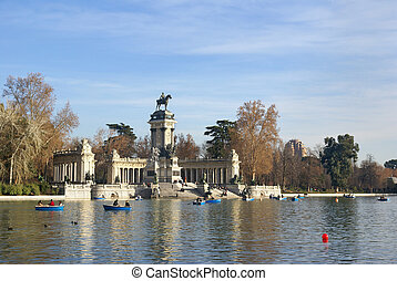 Monument to Alfonso XII of Spain, Madrid, Retiro park...