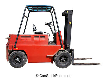 Forklift - Electic forklift isolated over white