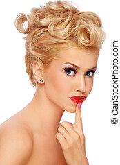 Thoughtful blonde - Young beautiful sexy stylish blond girl...
