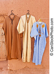 djellaba, extérieur, -, loose-fitting, traditionnel, Robe,...