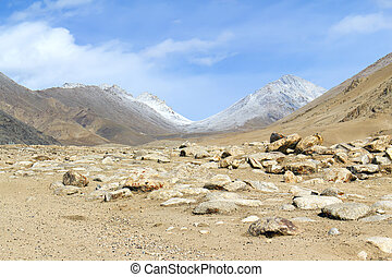 mountain valley in the Himalayas