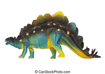 Dinosaur Stegosaurus isolated on the white background