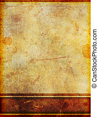 Ancient Old Dirty Stained Parchment Paper - Background image...