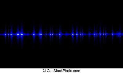 Flickering dark blue light