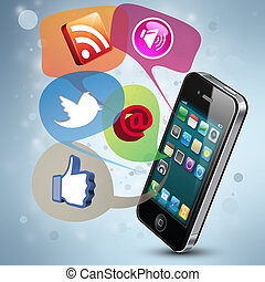 Social Media - Modern illustration demonstrating social...