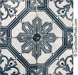 Lisbon azulejos - Traditional tiles azulejos from faacde of...