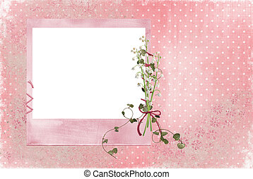 lily of the valley frame - Pink frame with lily of the...