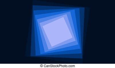 Rotating blue squares