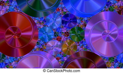 Rotating disks - Color disks slowly rotate
