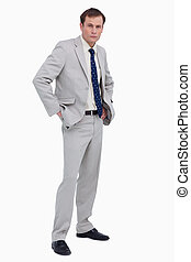 Businessman with hands in his pockets