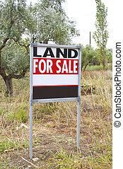 Land for sale concept