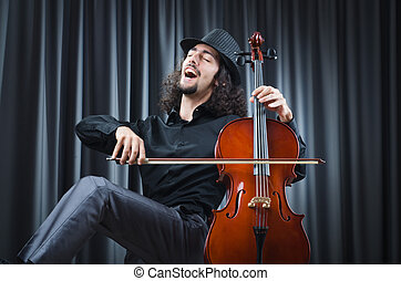 Man playing the cello