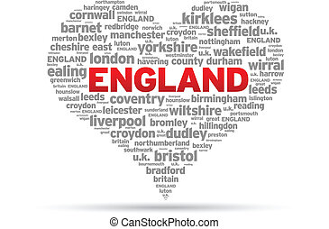 I Love England Illustration on white background