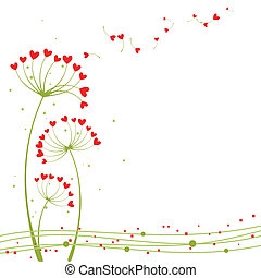 Abstract springtime love flower greeting card