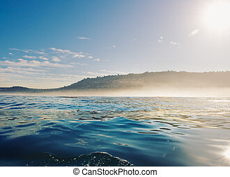 California Coast at Sunrise - Californai Coast, View of...