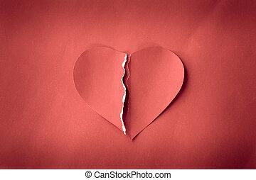 coração partido,  grunge, vermelho