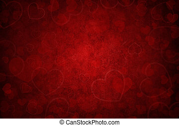 red background with hearts for Valentines