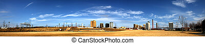 Birmingham Panorama - Birmingham Alabama panorama Skyline as...