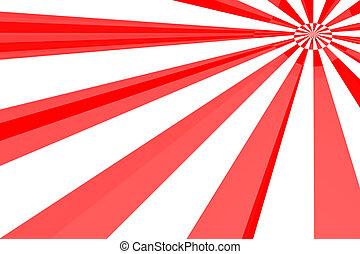 Red & White burst