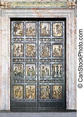 santissimo, PORTA, em, Vaticano