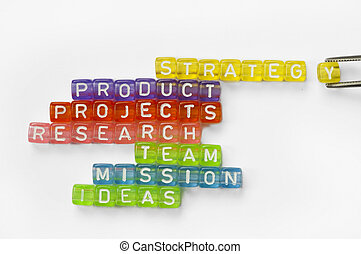Text success on colorful wooden cubes - Text success,...