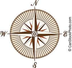 vector vintage brown compass