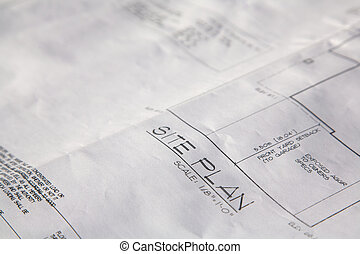 Blue prints for a new home construction
