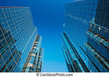 Tall Modern Office Buildings - Sky Scrapers, Urban Buildings...