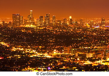 Los Angeles, Urban City at Sunset